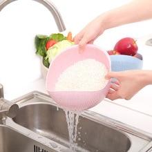 Kitchen Creative Wash Rice Fruit Vegetable Plastic Drain Basket Durable Multi-functional Colander Strainer