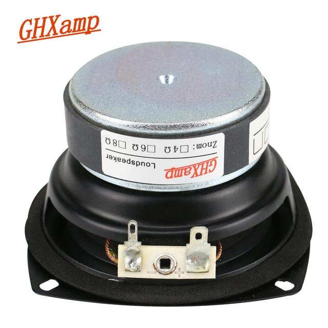 GHXAMP 3.5 Cal głośnik niskotonowy Głośnik basowy jednostki 8Ohm 20 W długi skok W przypadku półek na książki samochodu Echo głośniki ścienne DIY 1 PC