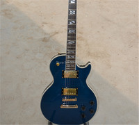 Custom Shop Classic LP Electric Guitar BLUE Tiger Flame Guitar Free Shipping