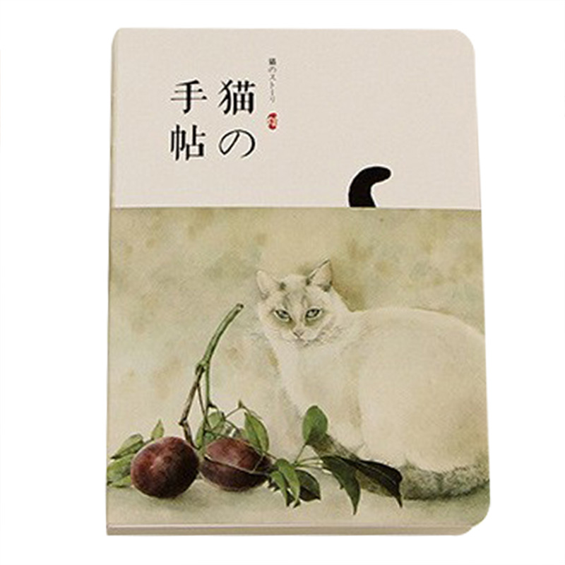 New Blank Vintage Sketchbook Diary Drawing Painting 80 sheet Cute Cat Notebook paper Sketch Office School Supplies Gift fruit