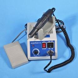 شحن مجاني مختبر الأسنان ماراثون محرك صغري آلة N3 + 35K RPM تلميع قبضة 110/220V
