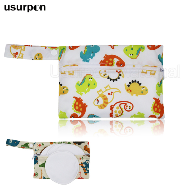 [Usurpon] 1 unid Pza 14*20 cm bolsa húmeda impermeable de tamaño pequeño para la bolsa de la almohadilla de la enfermería y la Bolsa de la almohadilla menstrual mini bolsa del pañal