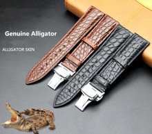 Crocodile Leather Watch Belt Manufacturer Spot Wholesale Bamboo-striped American Customization