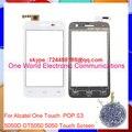 """4.0 """"черный Белый Для Alcatel One Touch Pop S3 OT5050 OT-5050 5050X 5050Y Сенсорным Экраном Дигитайзер Сенсорная Панель Переднее Стекло Объектива"""