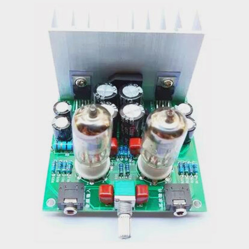 Free Shipping!!! Hifi fever <font><b>6j1</b></font> tube preamplifier <font><b>lm1875t</b></font> small power amplifier / amplifier power amplifier board / amp diy kit image