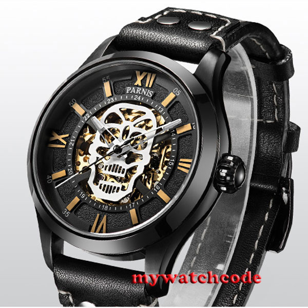 45mm Parnis PVD steel case Sapphire Glass miyato Automatic mens Watch P57145mm Parnis PVD steel case Sapphire Glass miyato Automatic mens Watch P571