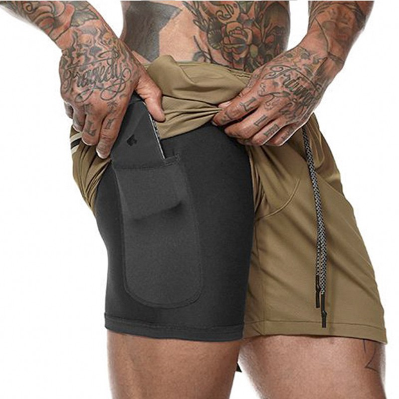 Men Summer Slim Shorts Gym Fitness Bodybuilding Running Male Short Pant Knee Length Breathable Mesh Sportswear in Casual Shorts from Men 39 s Clothing
