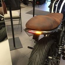Светильник для мотоцикла, задний тормоз, поворотник, номерной знак, светильник для Bobber, кафе, Racer, ATV, красный, янтарный цвет