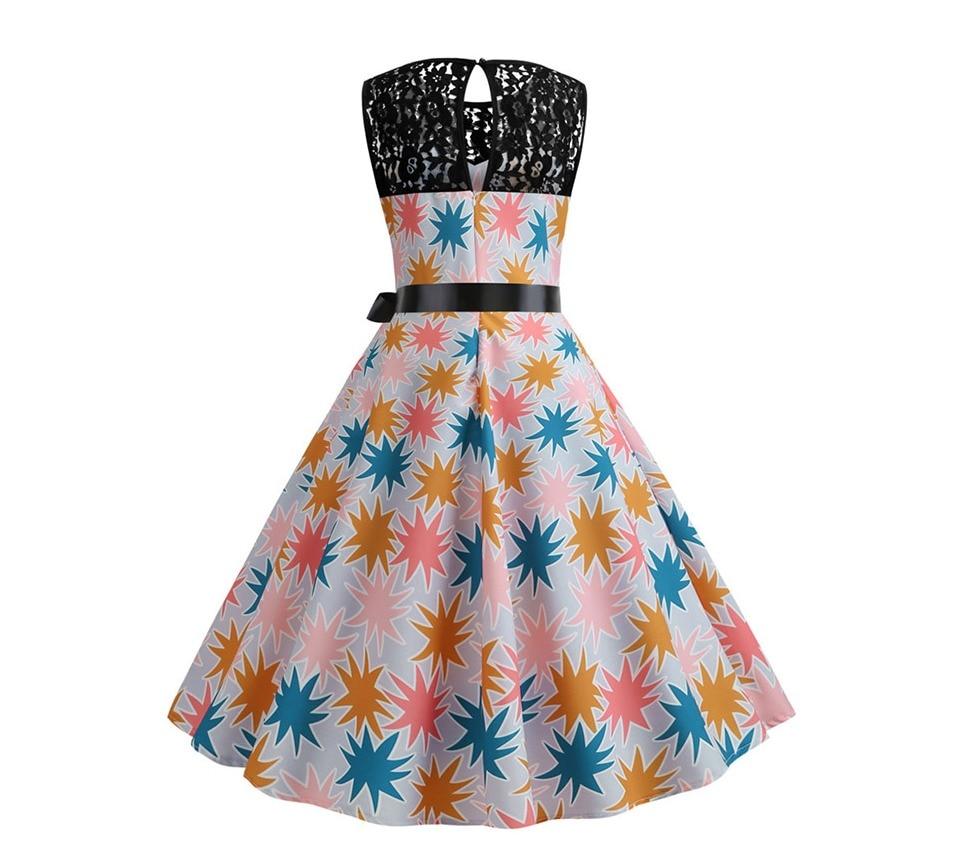 Koktejlové párty šaty jednofarebné s čipkou (10 variánt) 14