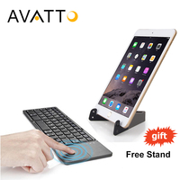 AVATTO A18 Folding Bluetooth Mini Keyboard Rechargeable Portable BT Wireless Foldable With Touchpad For PC