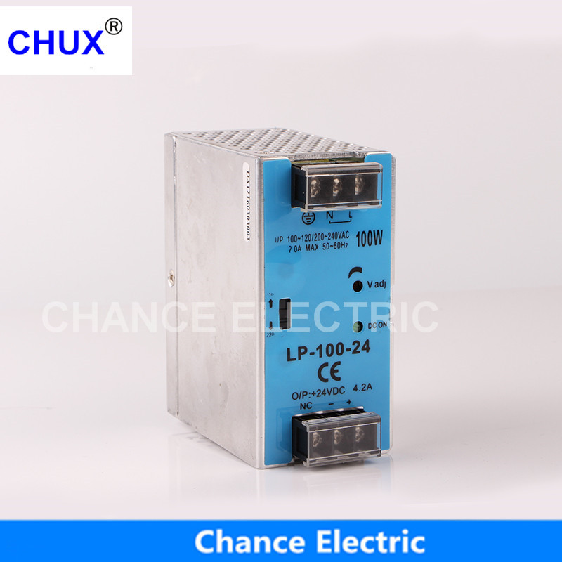 24V 12V Switching Power Supply 100W Mini size Din Rail Single Output 100-240V input LP100W Power Suppliers недорго, оригинальная цена