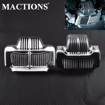 MACTIONS Motorcycle Stock Oil Cooler Cover For Harley Touring Road King Electra Street Glide Trike FLHT FLTR FLHX 2011-2014 2015 free shipping black stock oil cooler cover for harley road kings road glides street glides 2011 2015