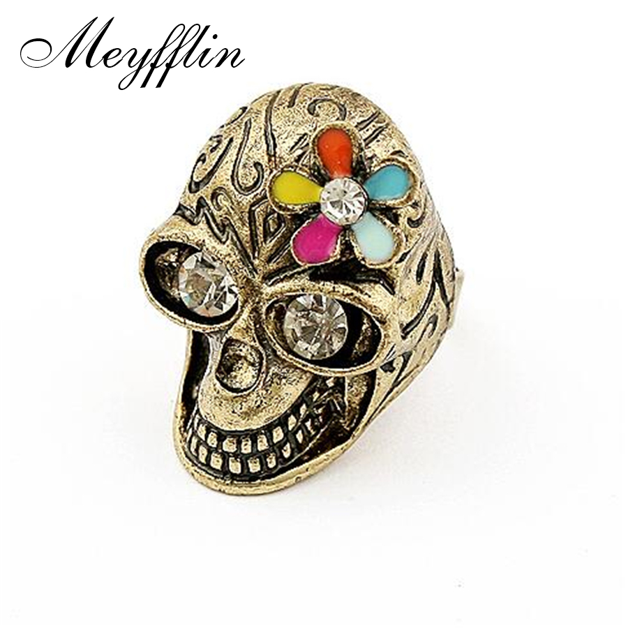 Fashion punk skull rings for women men jewelry vintage Vintage style fashion rings