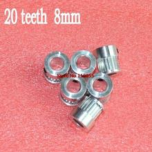 bore 8mm GT2 20 teeth 6mm width timing pulley ultimaker reprap 3d printer accessories(China (Mainland))