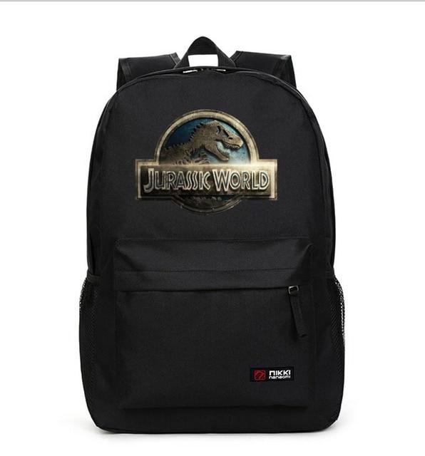 ec7ca22431 Jurassic World Children School Backpack Waterproof Book Storage Bag BLACK