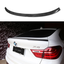 Automobiles Carbon Fiber Rear Roof Spoiler Wing Car Styling For BMW X Series X4 F26 Xdrive25i Xdrive28i 2015 2016 2017 montford car styling abs plastic unpainted primer color rear trunk boot wing roof spoiler for bmw f26 x4 spoiler 2015 2016 2017