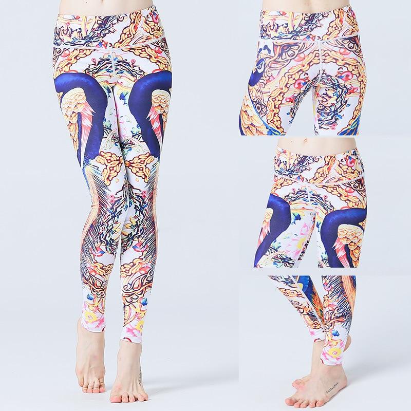 LULU Princess Four Needle Six Line Eagle Rock Printing Yoga Pants Ventilation Do Close Motion Woman Bodybuilding Dance Trousers