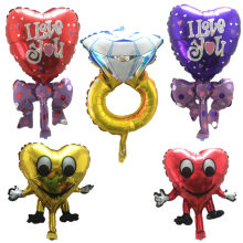 mini Wedding Balloons Diamond ring Balloons Marriage Decoration Love Balloon heart-shaped butterfly Balloon birthday(China)