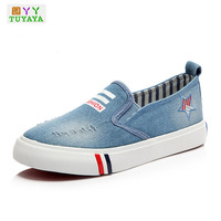 2017 Casual Demin Jeans Boys Sneakers Kids Shoes for Girl Canvas Shoes Kids Boys Loafers Children Trainers Sneakers