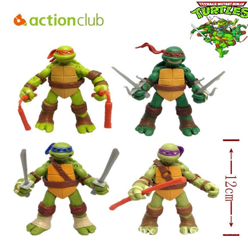 version of the Teenage Mutant Ninja Turtles action figure TMNT 1 set 4 dolls HT60500GE