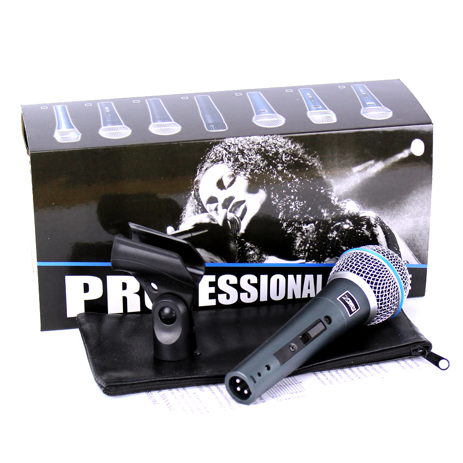 BETA58 Switch Professional Handheld Vocal Mic Dynamic Wired Karaoke Microphone System For BETA58A Studio KTV Singing Audio Mixer