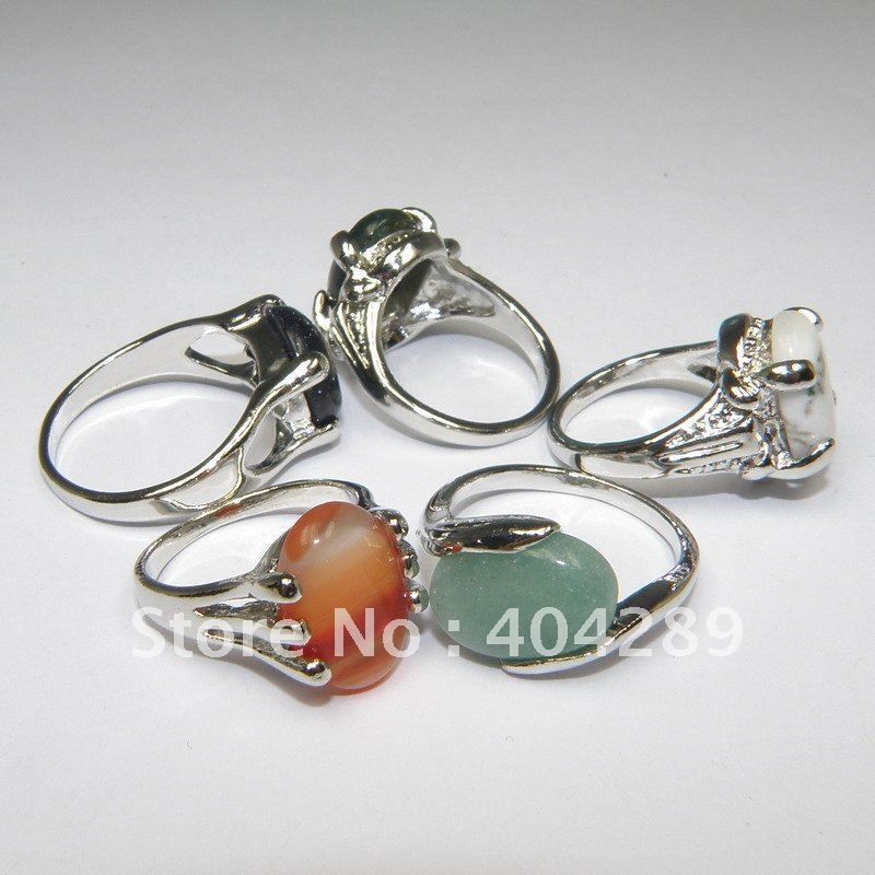 50 шт смешанный Лот Ювелирные изделия из натурального камня кольца