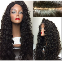 LUFFYHAIR Brazilian Curly Silk Base Lace Wigs with Baby Hair Glueless Remy Hair Silk Top Lace Front Wigs For Black Women