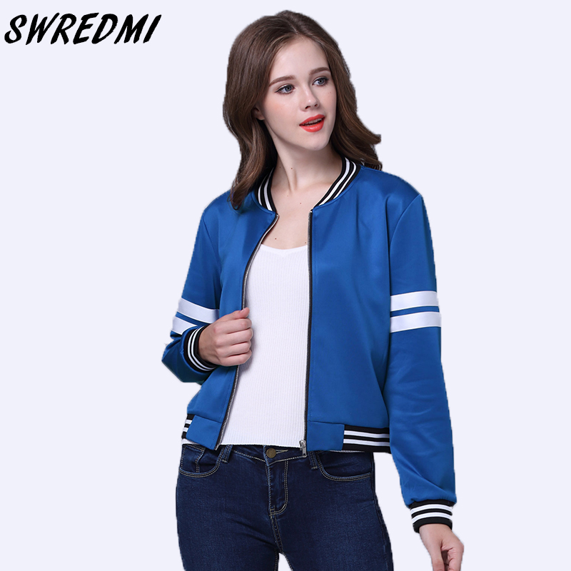 SWREDMI 2019 Spring And Autumn Women   Basic     Jacket   Outerwear O-Neck Casual Female Clothing Short Coats