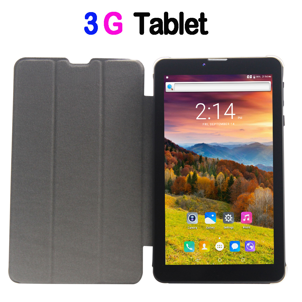 7 inch android 6.0 tablet pc 3G phone call sim card wifi bluetooth sim card Quad core tab pc 7 inch tablets pc make phone call