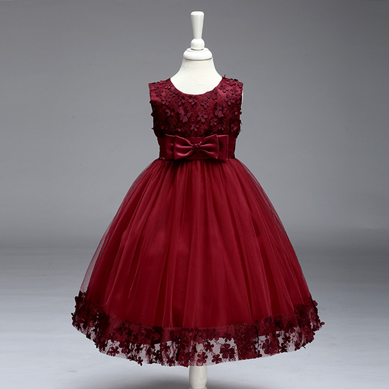 9485cf30d9d2b Princess dresses for girls wedding birthday party sequins children flowers  Frocks vestido infantil para festa 2