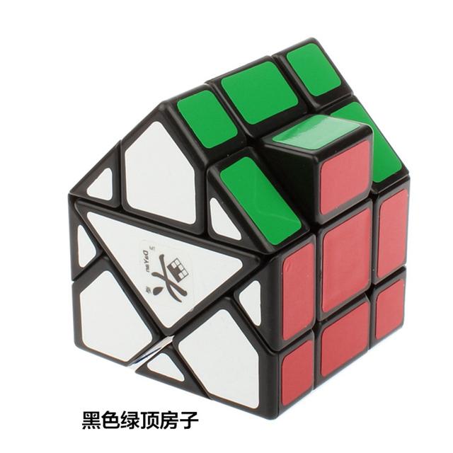 Marca Nueva Dayan Bermudas Triángulo Casa Verde Cubo Mágico Speed Puzzle Cubos Juguetes Educativos para Los Niños del cabrito
