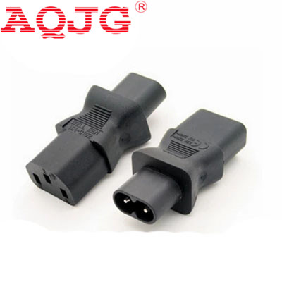 IEC 320 C8 Male Plug to C13 3Pin Female Socket Power Adapter  IEC 320 C8 Figure 8 Type 2pin Male To C13 AQJG free shipping ups iec 320 c14 to c13 power adapter conversion plug adapter plug left male to female wpt604