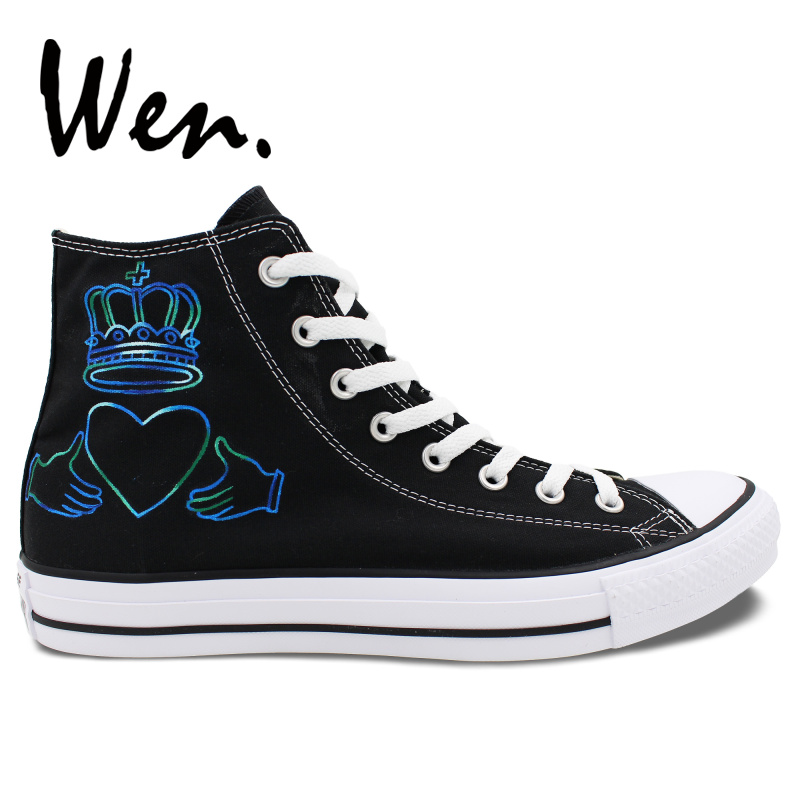 cec6728069ff Detail Feedback Questions about Wen Men Women s Hand Painted Shoes Design  Custom Simple Minds High Top Canvas Sneakers Men Women s Christmas Gifts on  ...