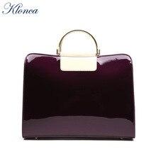 Klonca freeshipping chic female handbag new designer CLUTCH bag high quality PU leather DRESS SOLID crossbody 2019 HOT sale