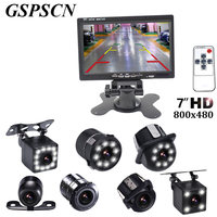 GSPSCN 7 Inch Monitor LCD Color HD TFT Screen Car Auto Parking Rear View Monitor LED