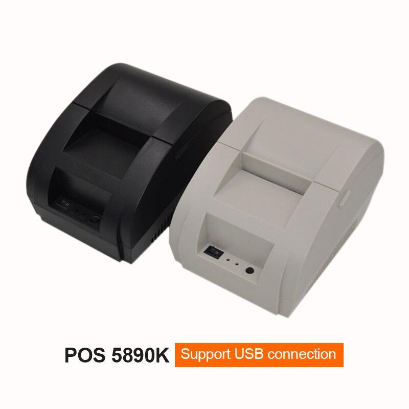 Mini 58mm 5890k Thermal Printer Ticket POS label printer Thermal Receipt Printer USB Interface Restaurant Bill