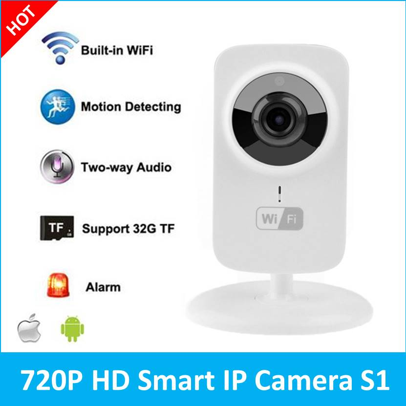 V380 Wireless IP Camera Onvif 720P IPC Mini wi fi CCTV Security Cameras  Support Android IOS Motion detection Alarm System S1-in Surveillance  Cameras