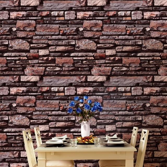 Retro Simulation Brick Stone Texture Wallpaper Thick Living Room Restaurant Study Room Entrance Cafe Background Wallpaper
