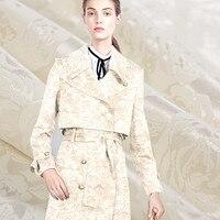 בד ברוקד אקארד חוט צבוע כותנה למתוח אופנה מוגבלת עבור מעיל שמלת DIY בדי tecidos מטר telas tissus au