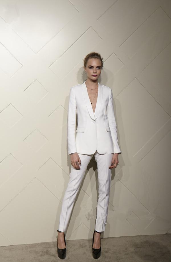 2017New Arrival White Pants Suit Women Work Bussiness Formal Pants Suits Women Office Suits Set ...
