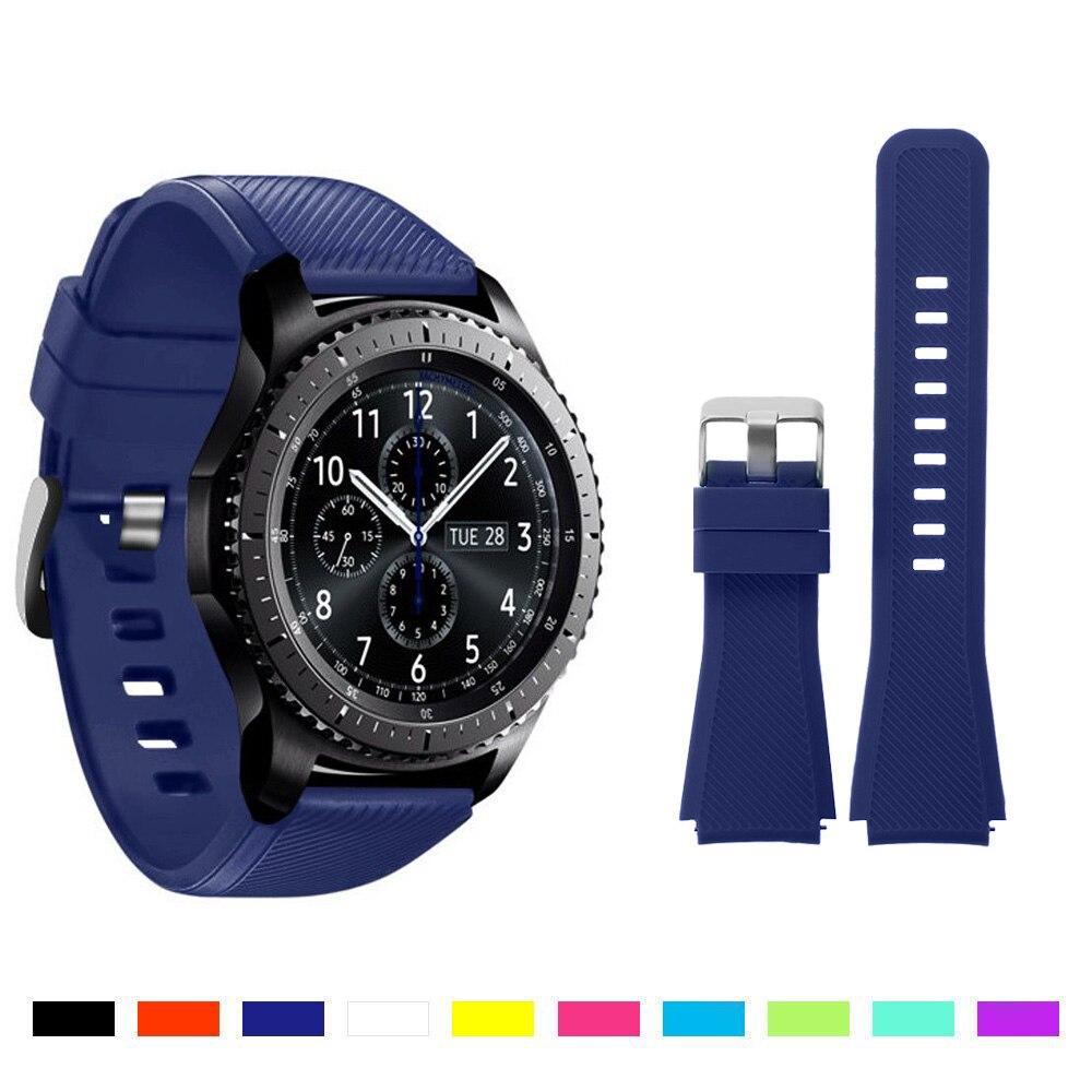 1 St Siliconen Horlogeband Voor Gear S3 Classic/frontier Smart Horloge Band Strap Vervanging Armband Voor Samsung Gear S3 Mooi Van Kleur
