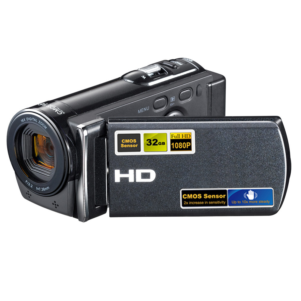 цена 2017 Good Sale HDV-601S 1080P 16MP Digital Camera DV Video Recorder Mini DV Camcorder with 3.0 3.0 TFT LCD J8