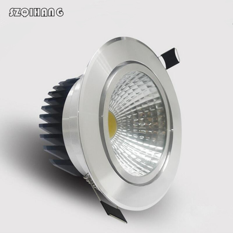 Dimmable Led downlight light COB Ceiling Spot Light 7W 10W 85 265V ceiling recessed Lights Indoor Lighting|Ceiling Lights| |  - title=