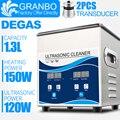Granbo портативный цифровой ультразвуковой очиститель для ванной 1.3L 120 Вт DEGAS с нагревателем для ювелирных изделий  очков  часов  Нефритовой св...