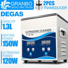Ultrasonic-Cleaner Watches Jewelry Spark-Plug Glasses DEGAS Bath-1.3l Portable Granbo