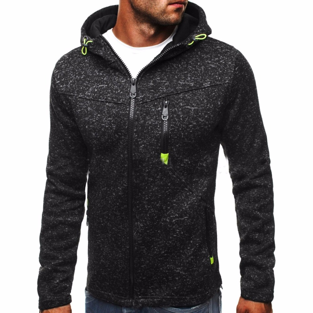 Winter Hoodie Male Cardigan New Long sleeve hoodies men Zipper ...