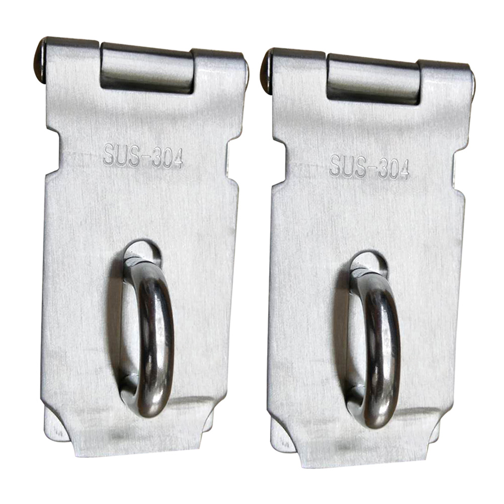 2 Pcs Padlock Hasp Door Clasp Hasp Lock Latch SUS 304 Stainless Steel Lock for Fastening Gate Or Cabinet Doors