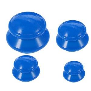 Image 3 - 4 шт. влагопоглотитель антицеллюлитная Вакуумная чашка Силиконовая семейная Массажная банки для тела для терапии Набор чашек 4 размера