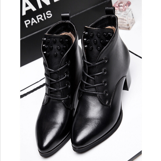 Aliexpress.com : Buy Genuine leather fashion women boots 2015 ...