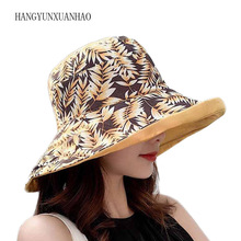 Hip Hop Cap Maple Leaf Panama Bucket Hat Women Men Couple Summer Cotton Fishing Hat Sun Flat Top Fisherman Hats Caps chic rose and leaf pattern flat top black bucket hat for women